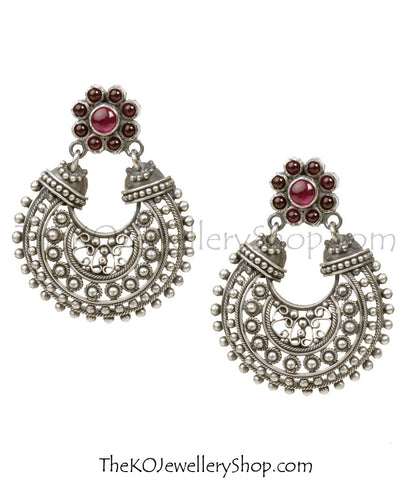 chand-bali style Sterling Silver (92.5%) earrings for festive and casual wear.