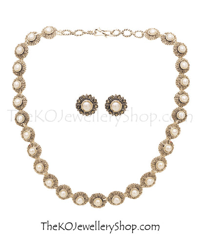 Bridal collection silver necklace for women shop online
