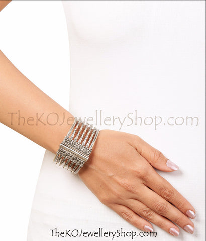 Online shopping pure silver bangles for women