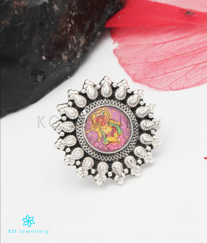 The Eshan Silver Ganesha Finger Ring