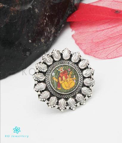 The Ekadanta Silver Ganesha Finger Ring