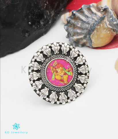 The Durja Silver Ganesha Finger Ring