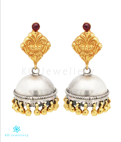 The Abja Silver Jhumka (2Tone)