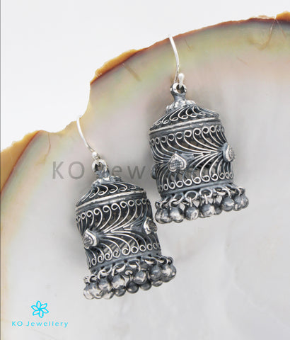 The Aarav Silver  Jhumka (Oxidised)