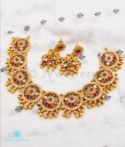 The Vansh Silver Navratna Necklace