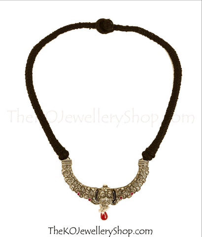 The Kanthirava Silver Necklace(Big)