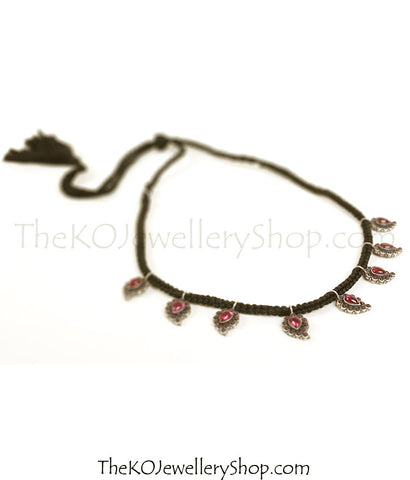 The Rasala Silver Paisley Necklace