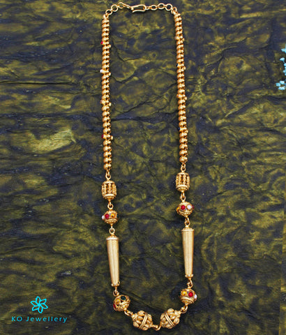 The Parag Silver Navaratna Chain