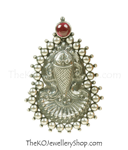 The Matsya Silver Pendant (Oxidised)