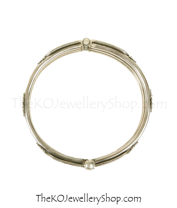 Buy online hand crafted silver bracelet for women