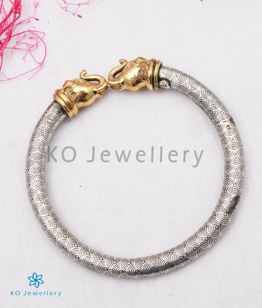 Dual Tone Silver Gold Bangles