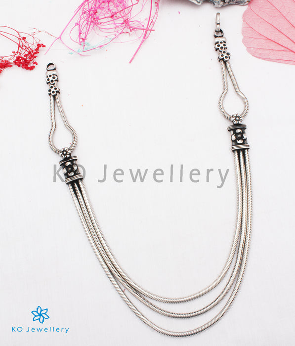 The Vibha Silver Layered Chain Necklace