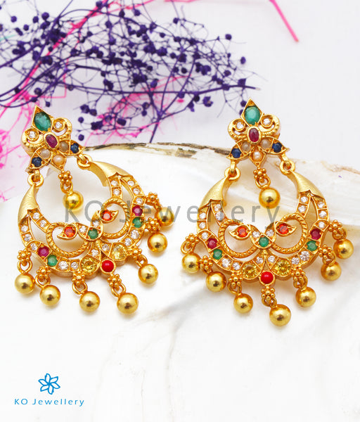 Gold-dipped Silver Chand Bali Earrings