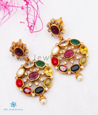 The Payal Silver Navratna Earrings