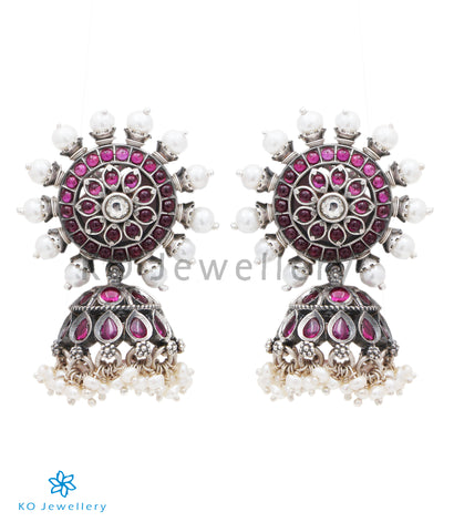 The Ekya Siver Jhumka (Oxidised)