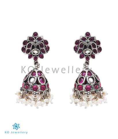 The Amrita Siver Jhumka (Oxidised)