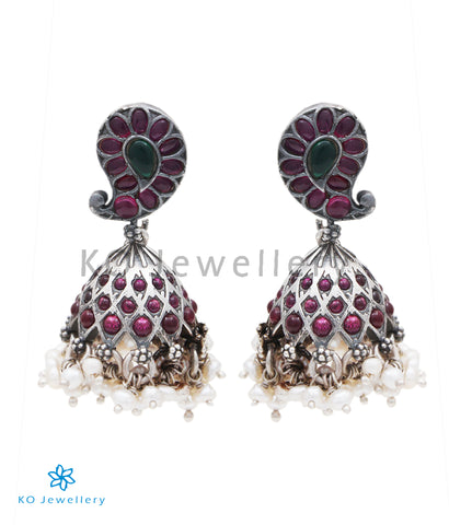 The Rasala Siver Jhumka (Oxidised)