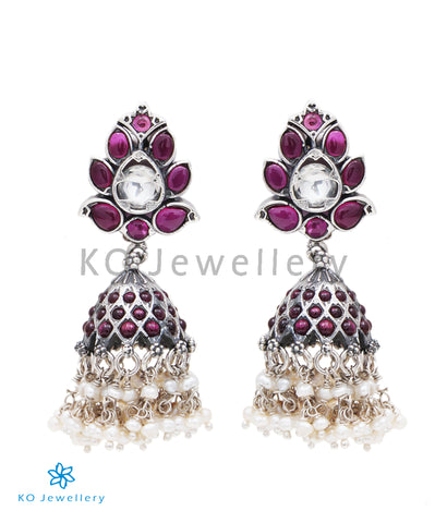 The Prisha Siver Jhumka (Oxidised)