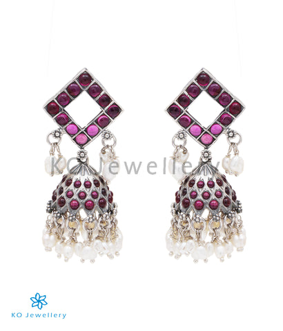 The Drishya Siver Jhumka (Oxidised)