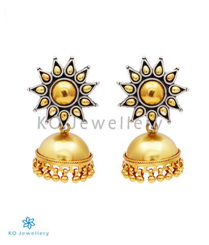 The Surya Silver Jhumka