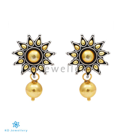 The Surya Silver Earrings(Two-tone)