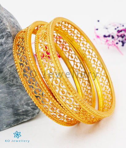 The Mithra Silver Bangles