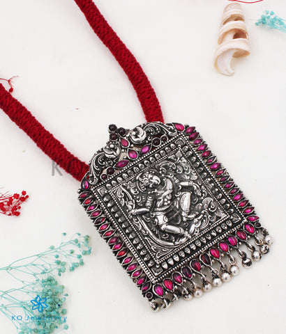 The Nritya Silver Thread Necklace (Oxidised)