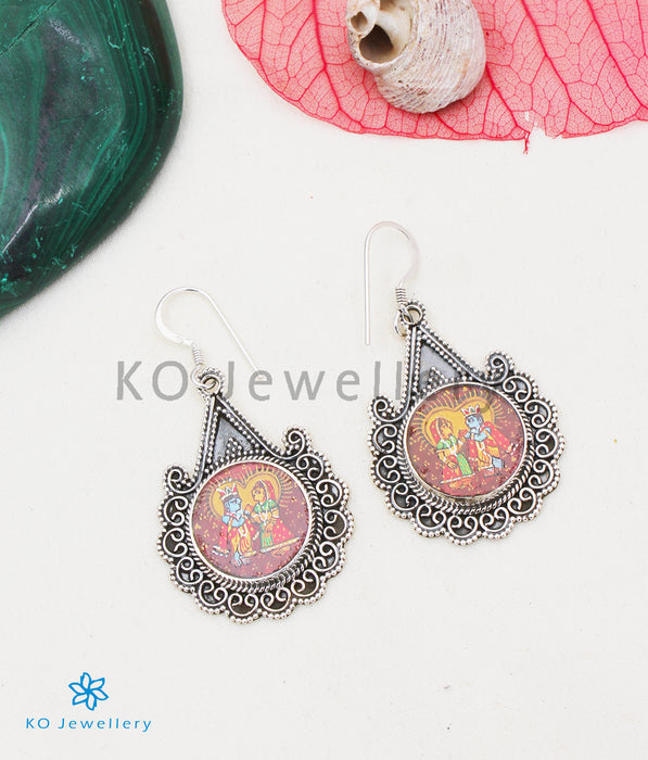 The Silver Handpainted Gopala Pendant/Earrings
