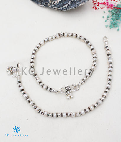 The Silver Pearl Anklets (Kids) - KO Jewellery