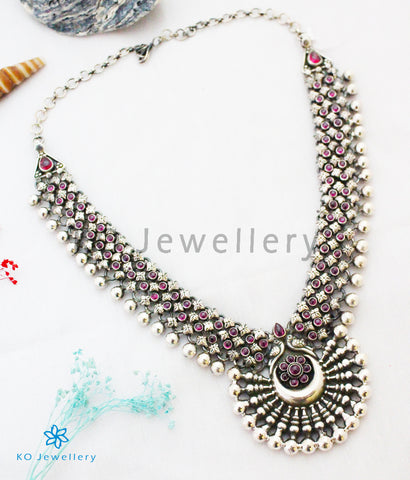 The Ayudhin Silver Antique Necklace