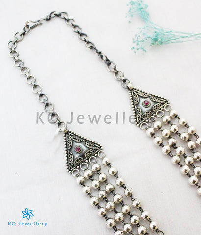 The Kanishka Antique Silver Beads Necklace