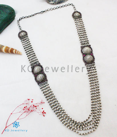 The Raivata Antique Silver Beads Necklace