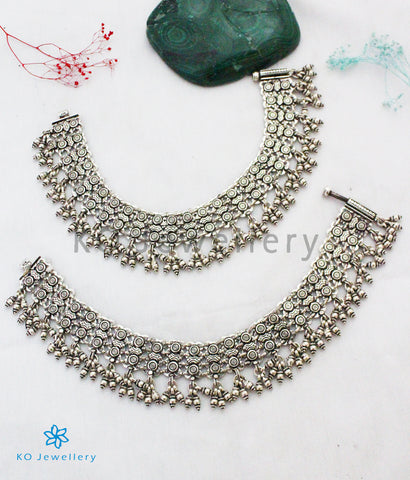 The Abhyudaya Silver Bridal Anklets