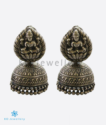 The Abira Silver Goddess Jhumka