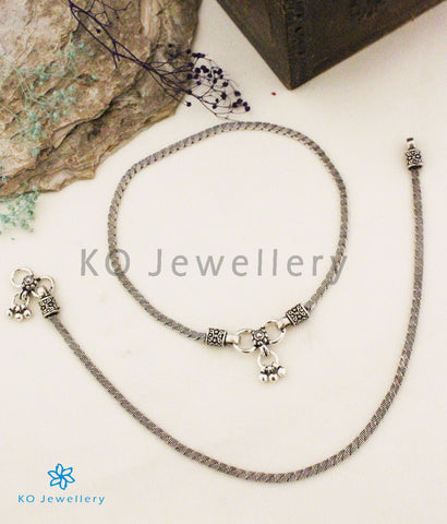 The Shuchi Silver Anklets