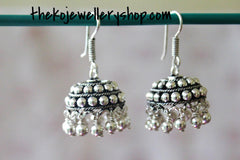 The Jhilmil Silver Jhumka