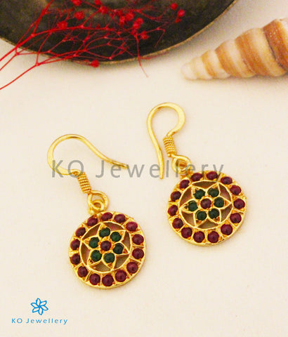 The Samanvaya Silver Earrings (Red/Green)