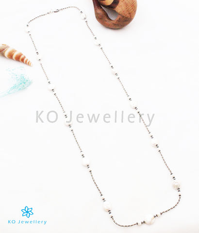 The Bhautika Silver Pearl Necklace