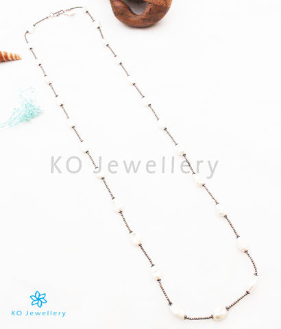 The Yuvan Silver Pearl Necklace