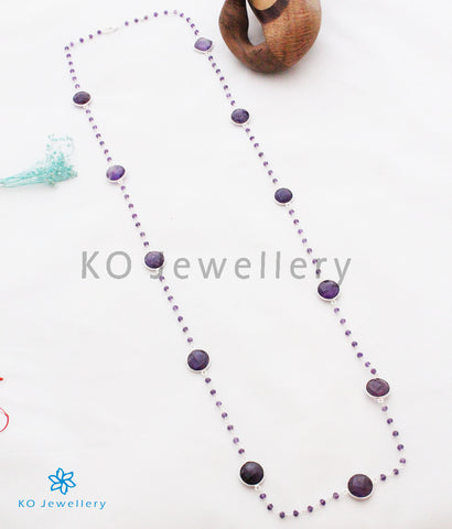 The Dhumra Silver Amethyst Necklace