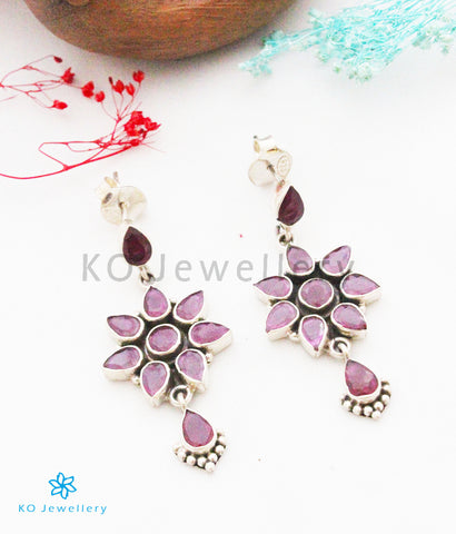 The Keya Silver Gemstone Earrings