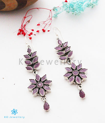 The Raivata Silver Gemstone Earrings