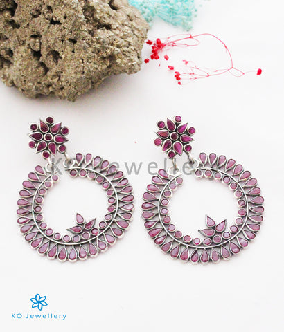 The Zoya Silver Polki Earrings