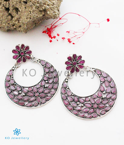The Mehr Silver Polki Earrings