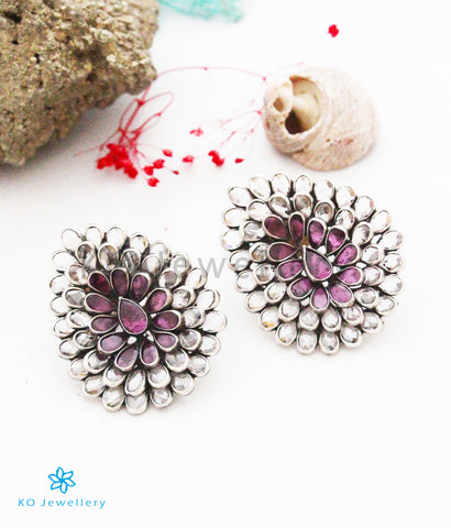 The Zyan Silver Polki Earrings