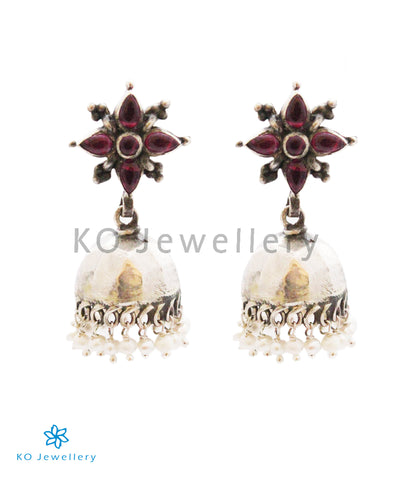 The Aloki Silver Jhumka