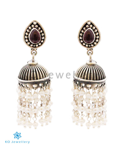 The Bahula Silver Jhumka