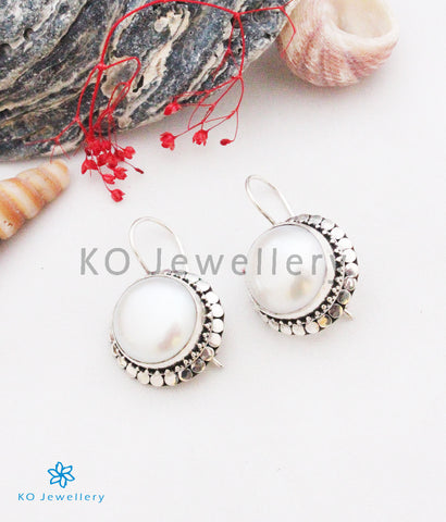 The Nabin Silver Pearl Earrings