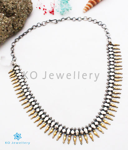 The Mandira Silver Necklace (Two-tone)
