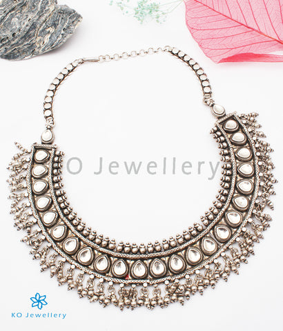 The Adhyayan Antique Silver Necklace